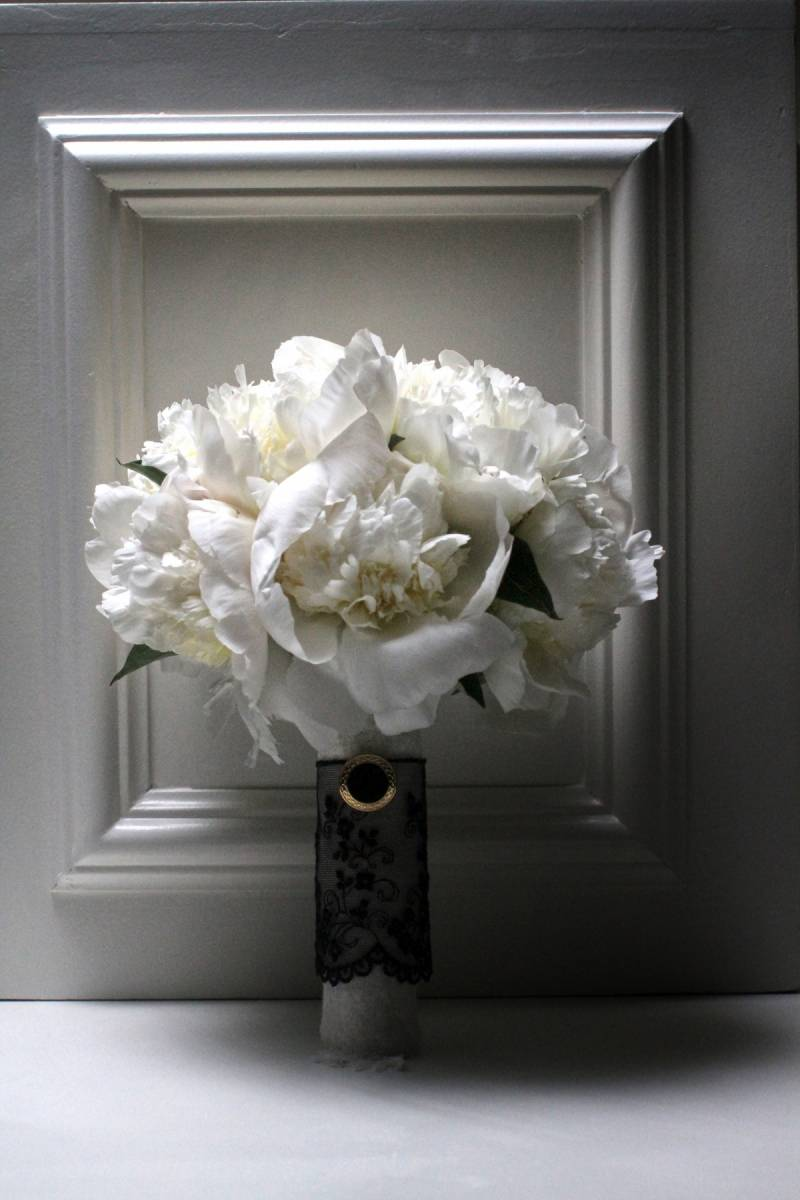 Black White Peony Bouquets Inspired By Chanel Hawaii Item 8