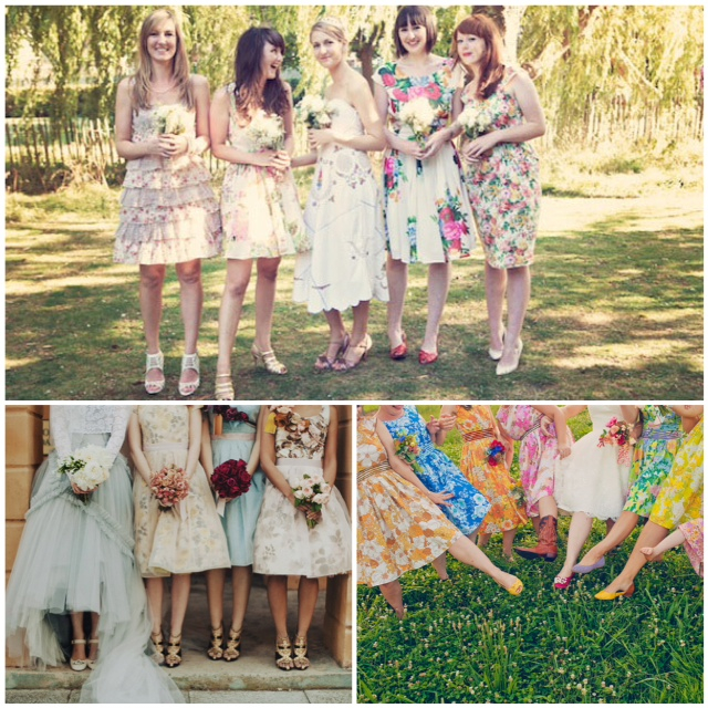 Lake Tahoe Wedding Inspiration Floral Bridesmaid Dresses Lake Tahoe Amazing Floral Pattern Bridesmaid Dresses