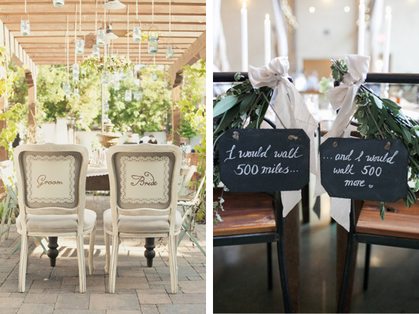 Bride And Groom Chair Signs ...