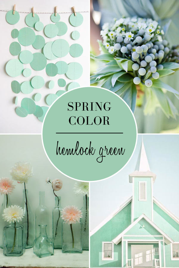 Spring Wedding Colors 2014 Hemlock Green Wedding