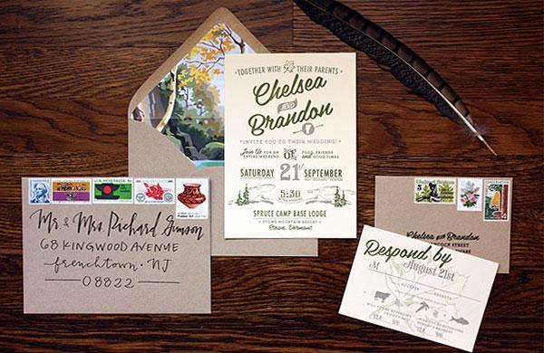mountain wedding invitation ideas inspiration lake tahoe