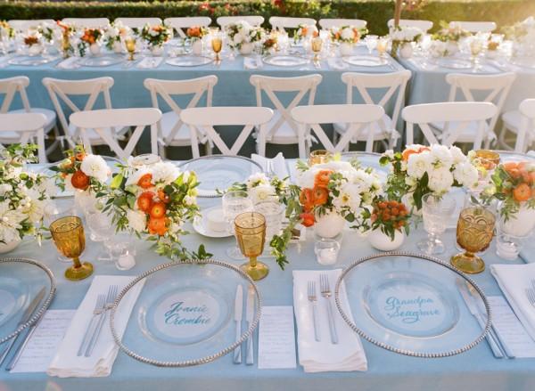 Elegant Lake Tahoe Summer Wedding Table Decor Ideas