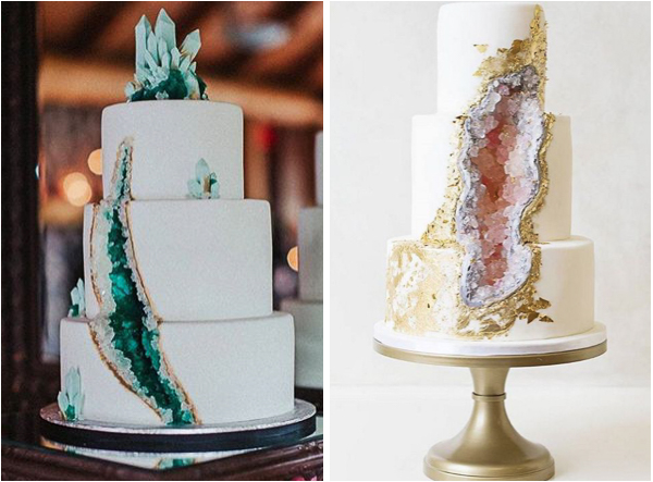 Nature Inspired Geode Wedding Cakes Lake Tahoe Inspiration Boards Trends