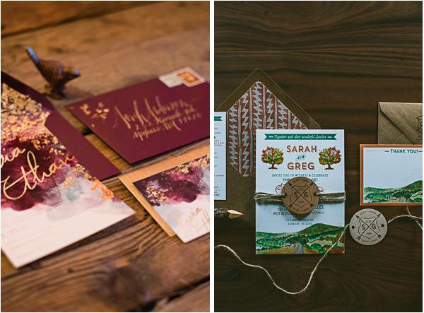Lake Themed Wedding Invitations: Lake Tahoe Fall Inspired Wedding Invitations