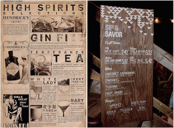 cocktail menu design ideas and inspiration lake tahoe gallery item 4 - Menu Design Ideas