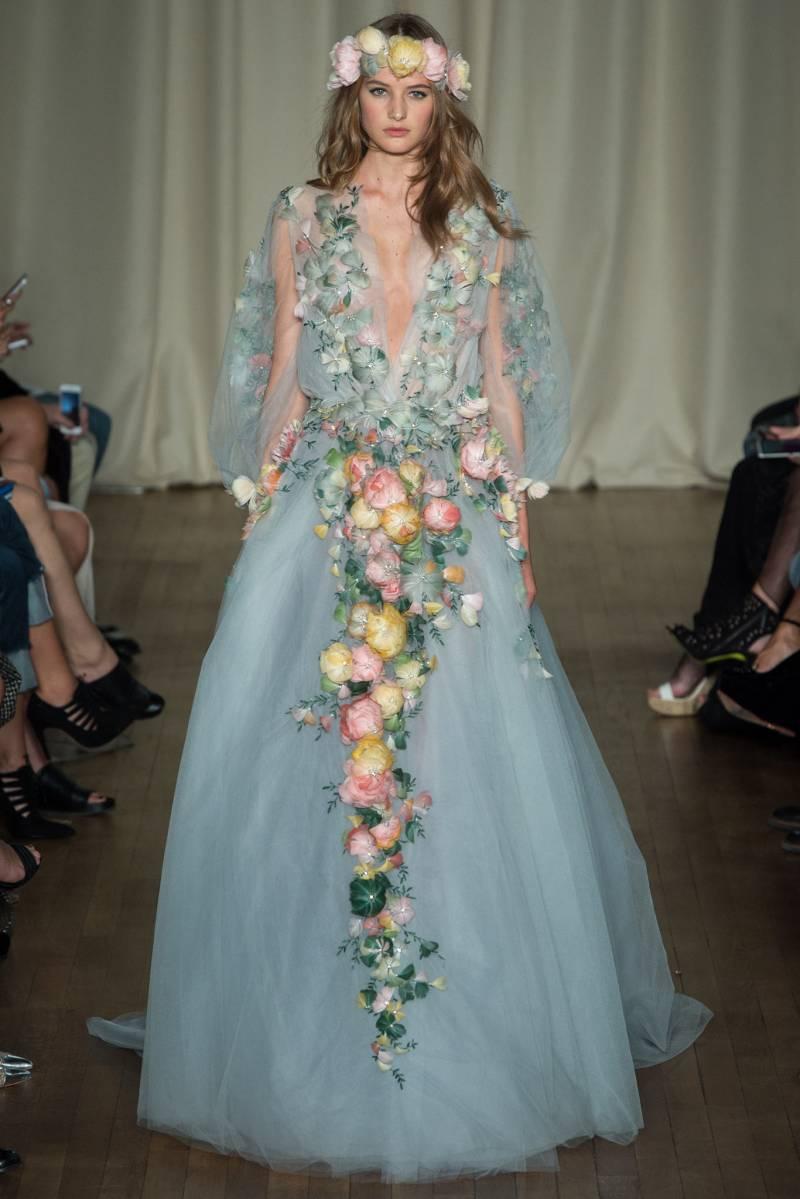 Free-Spirited Wedding Gown Inspiration from Marchesa