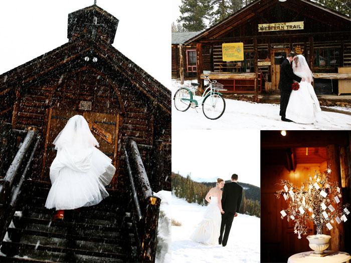 Real colorado wedding winter colorado junglespirit Images