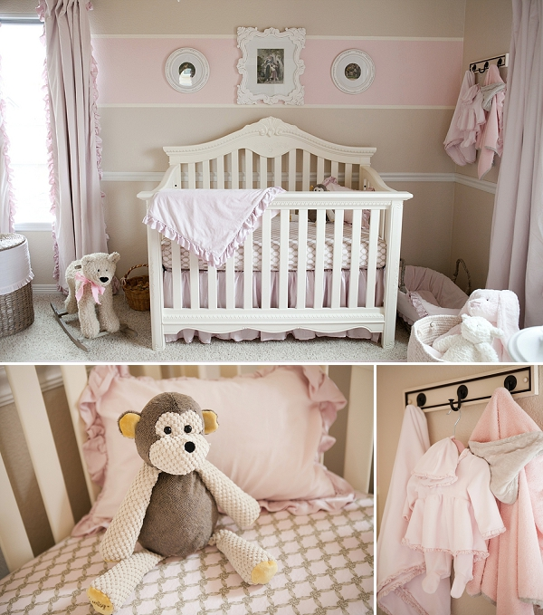 Soft And Elegant Gray And Pink Nursery: Elegant Pink + Cream Nursery And Baby Shower