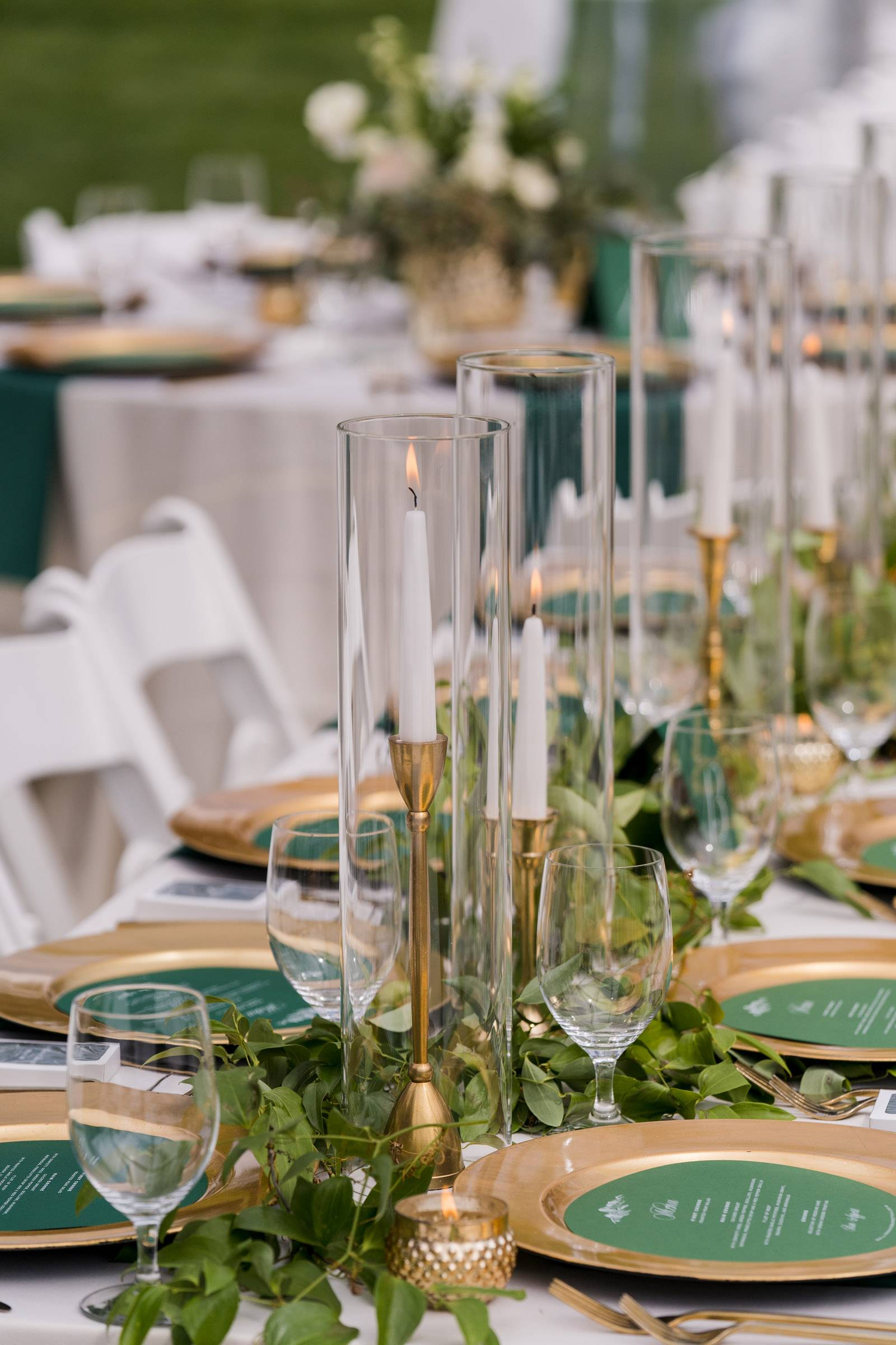 Mountain Wedding With An Emerald Green And Gold Color Theme Vail