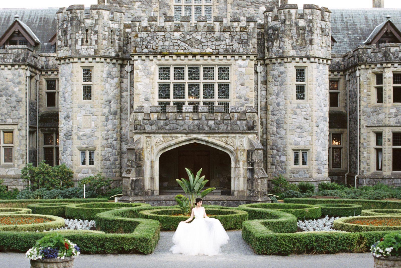 British columbia castle wedding