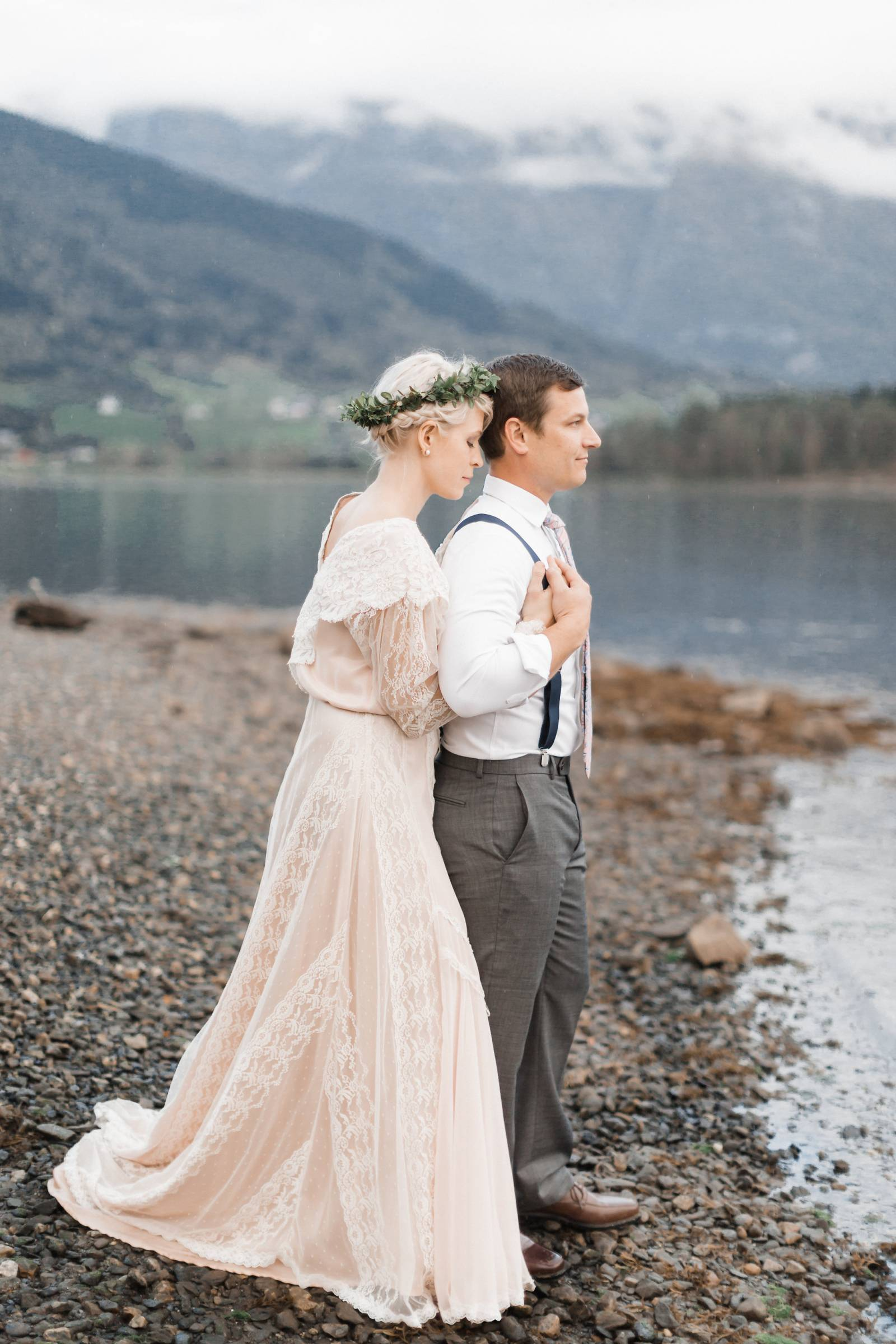 Sunset vow renewal amongst the fjords of Norway | Norway Vow Renewal