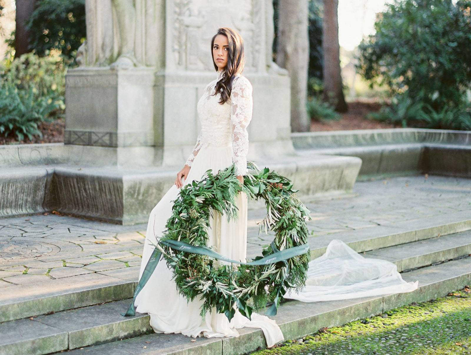 4926961c584 French-inspired Christmas Wedding editorial