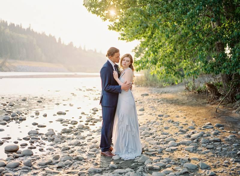 River bank wedding