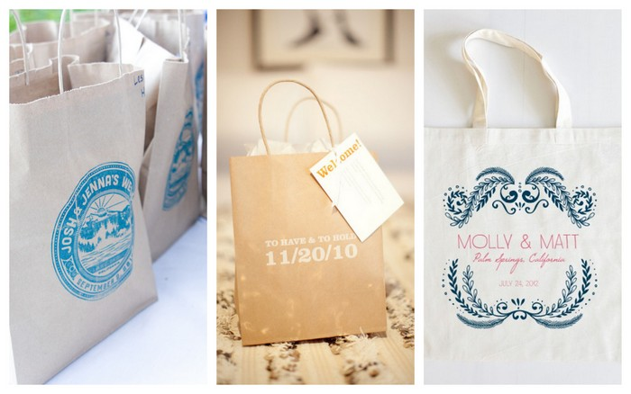 Images Via Jseven Creative Style Me Pretty And The Wedding S Welcome Bags May Be A New Addition To Scene But I Doubt They Will Go