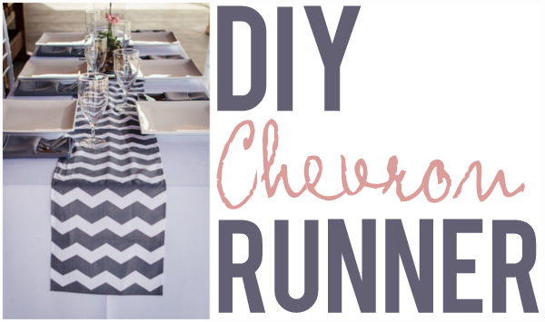 How To Make A Chevron Table Runner Here Applebrides