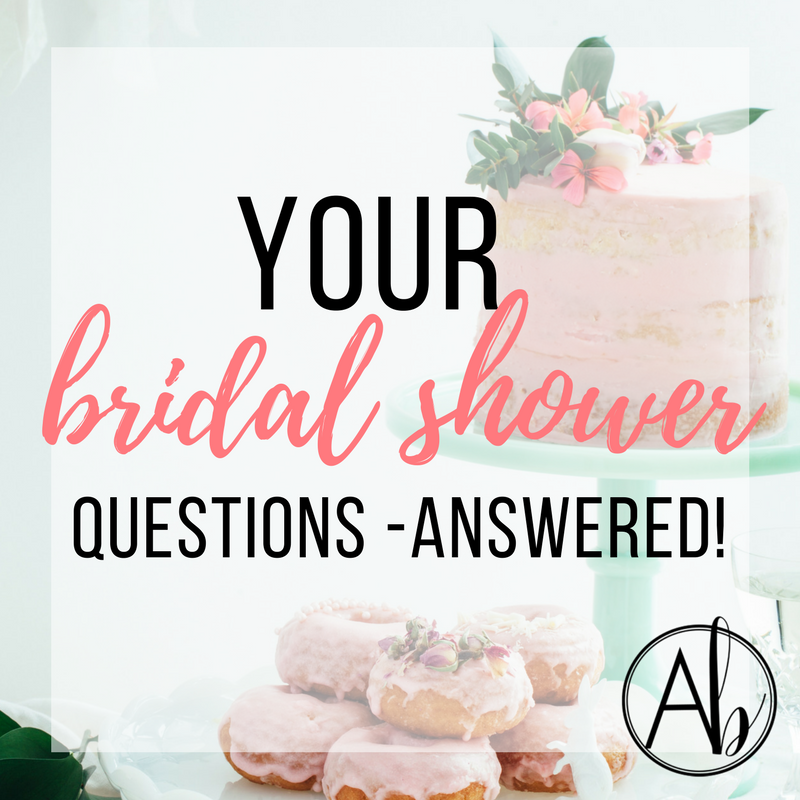 your bridal shower questions answered by apple brides