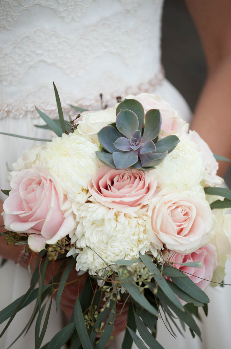 Test 3 canmore the soft pink roses are always so romantic and the addition of succulents adds a modern touch to the bouquet i also created smaller matching bouquets for izmirmasajfo