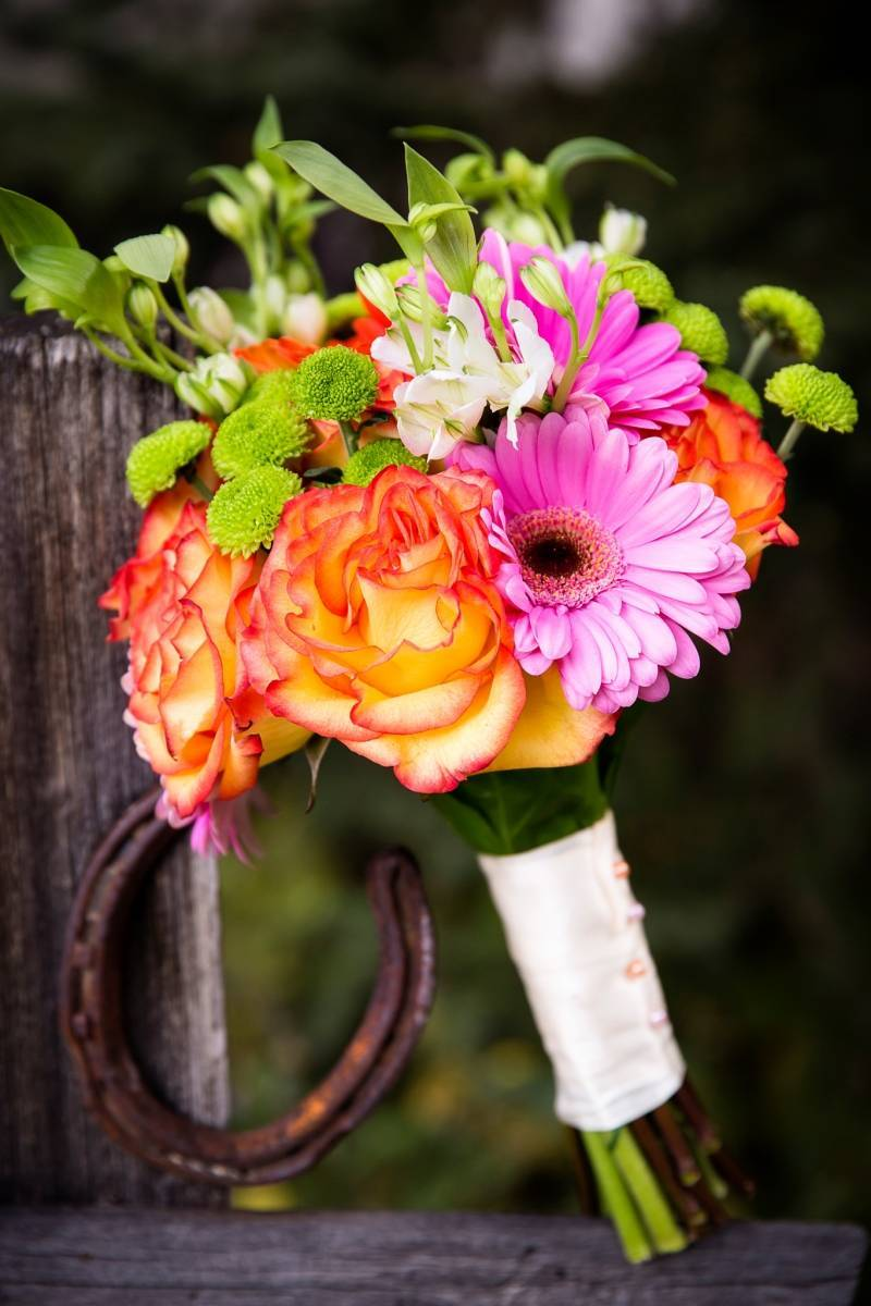 Gerbera Daisy Inspired Autumn Wedding Canmore