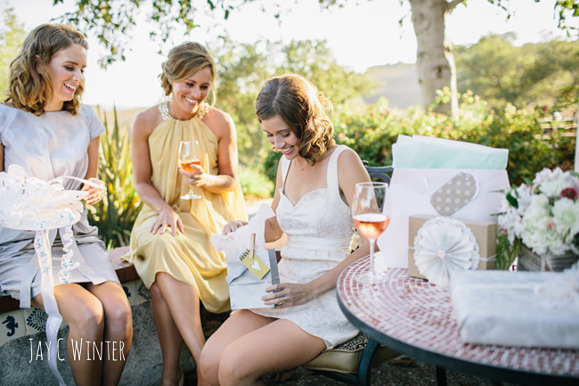 what better way for knotcrashers to introduce the crash bride than with a delightfully feminine bridal shower held on the gorgeous grounds of the casitas