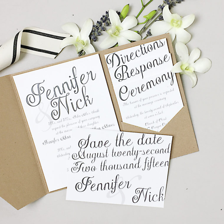 Price For Wedding Invitations: How To Score A Custom Wedding Invitation At A Stock Price