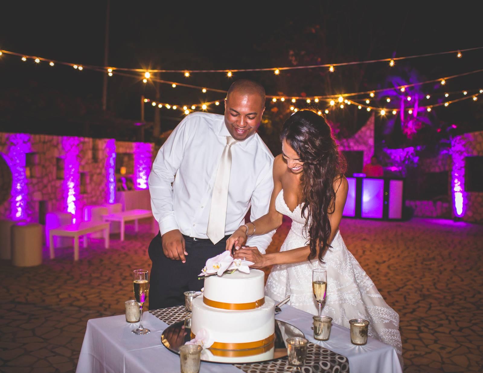 Tropical Glam Jamaican Destination Wedding Negril Real