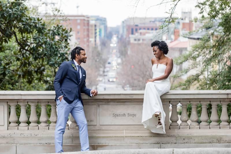 Washington Dc Spanish Steps Wedding Real Gallery Item 46