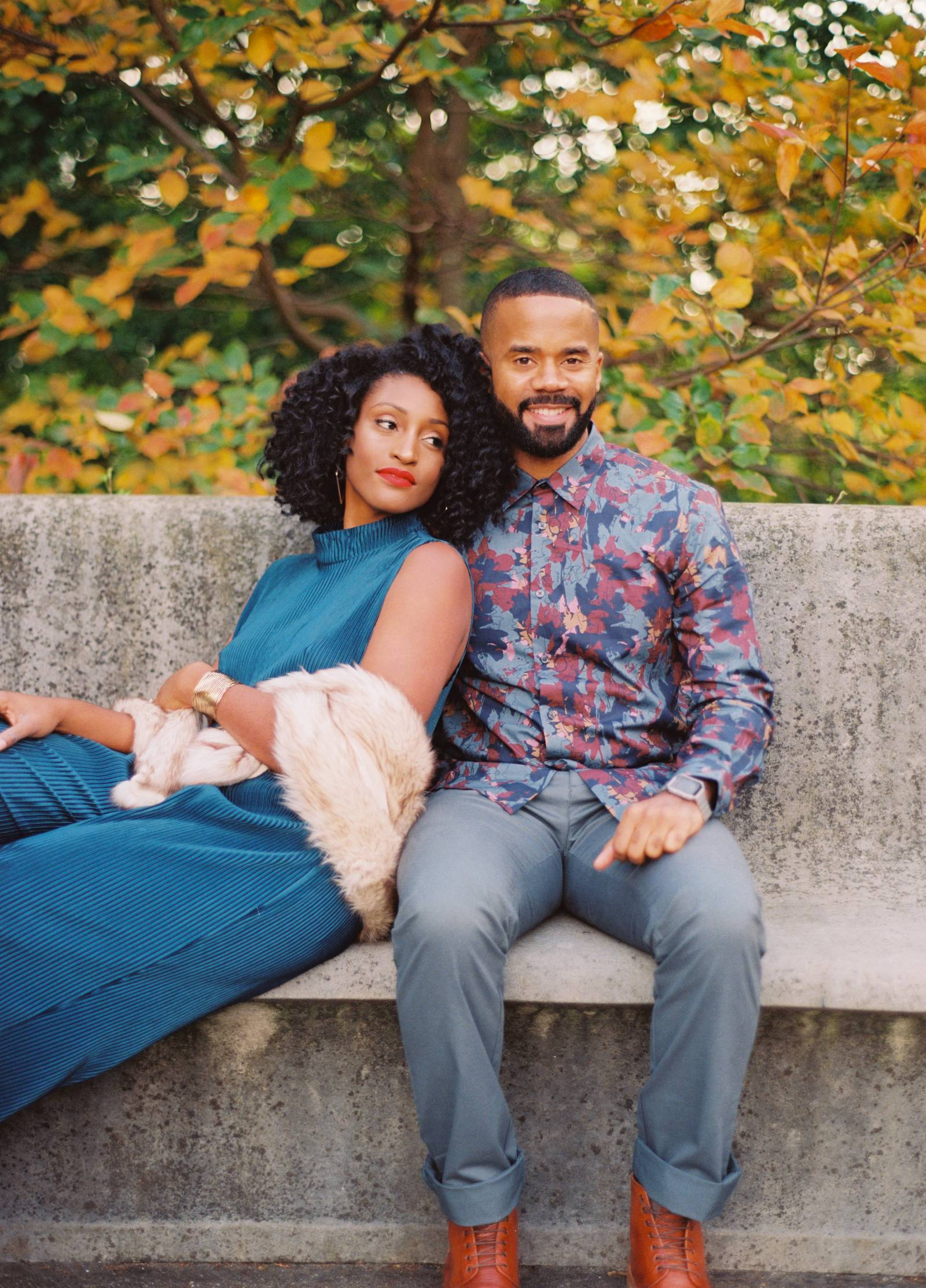 New York Love In The Fall Engagement Session Brooklyn