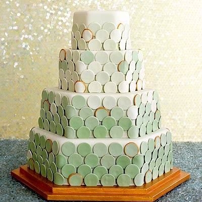 Retro Wedding Cake Design