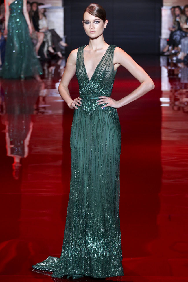 Elie Saab\'s 2013 evening wear collection is timeless, exquisite ...
