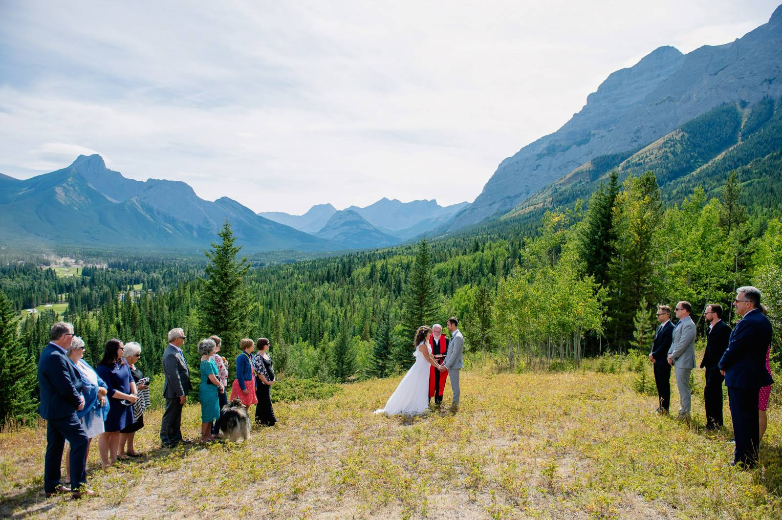 Kananaskis Viewpoint Wedding Ceremony With Reception At