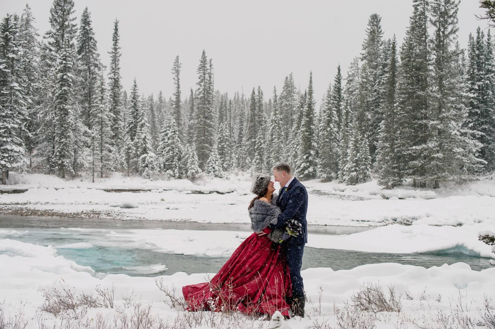 Winter Elopement In The Canadian Rockies