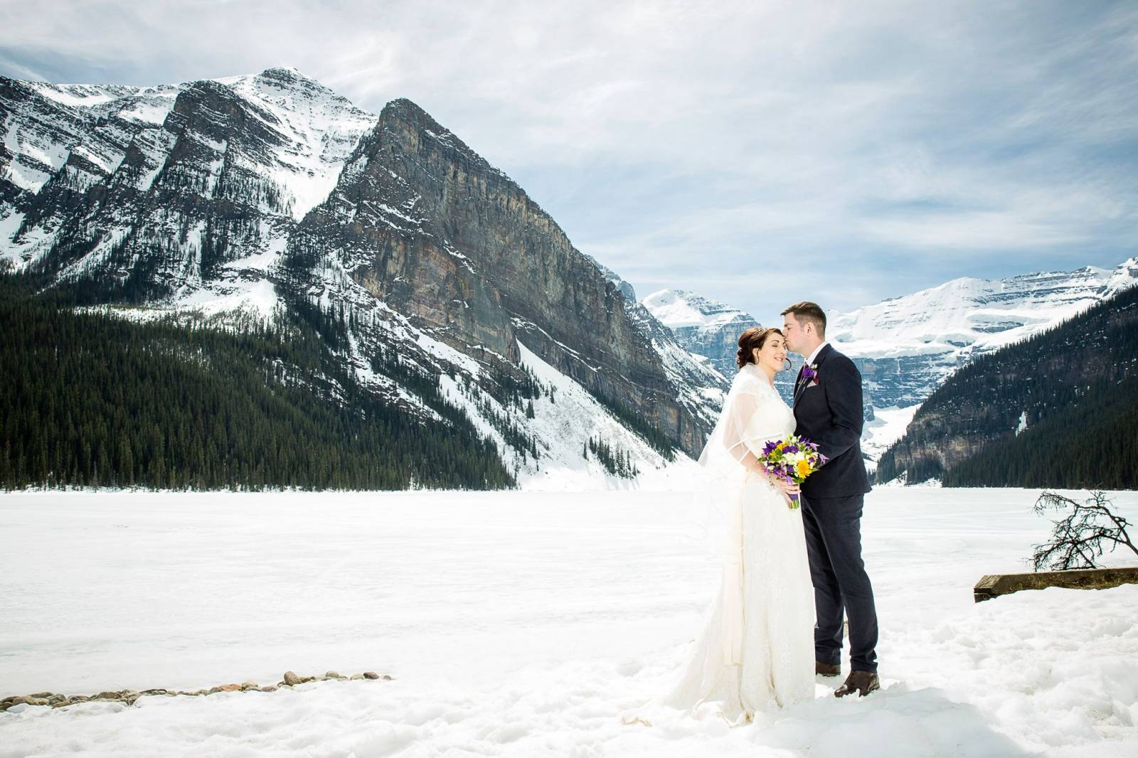 Lake Louise Wedding | Spring Elopement In Lake Louise Lake Louise Wedding Photography