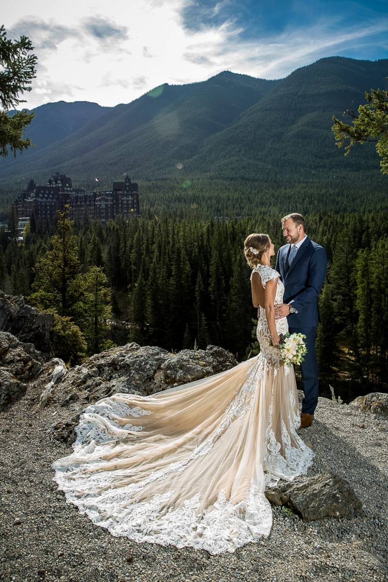 Since They Were Staying At The Fairmont Banff Springs Hotel We Had To Stop Surprise Corner For A Few Photos With This Iconic In Background