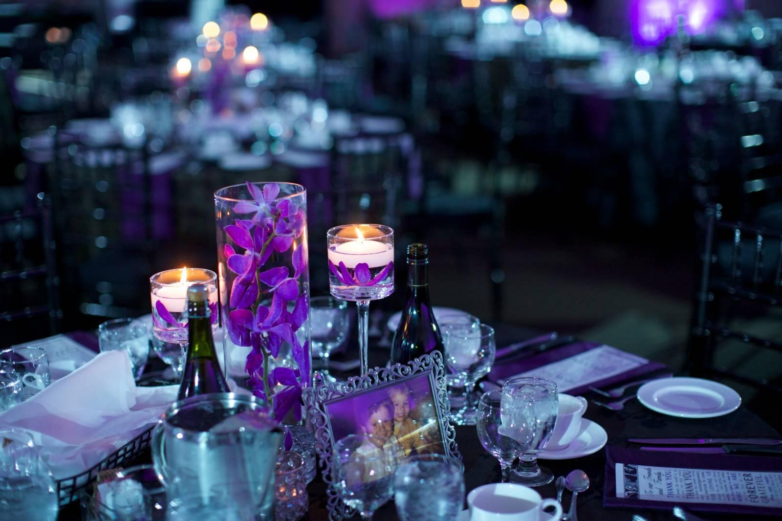 Elegant Purple Wedding At Black Swan Lake: Elegant Purple And Black Wedding