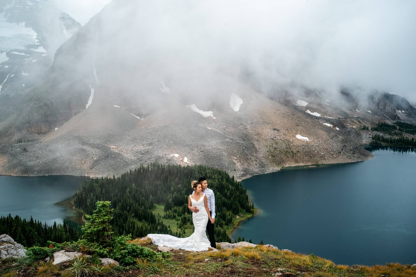 Backpacking wedding
