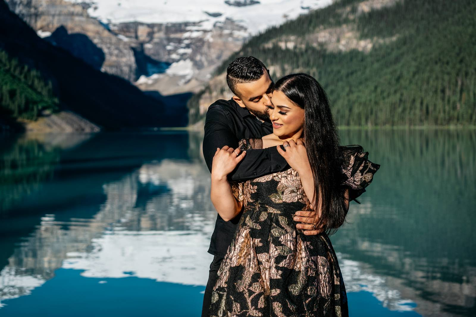 engagement session at Lake Louise