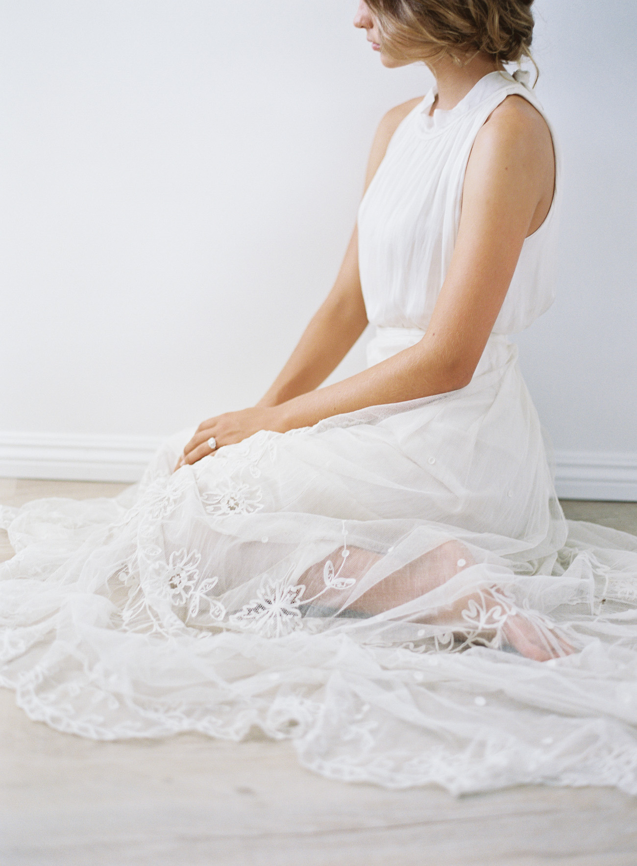 Tambour lace wedding dress