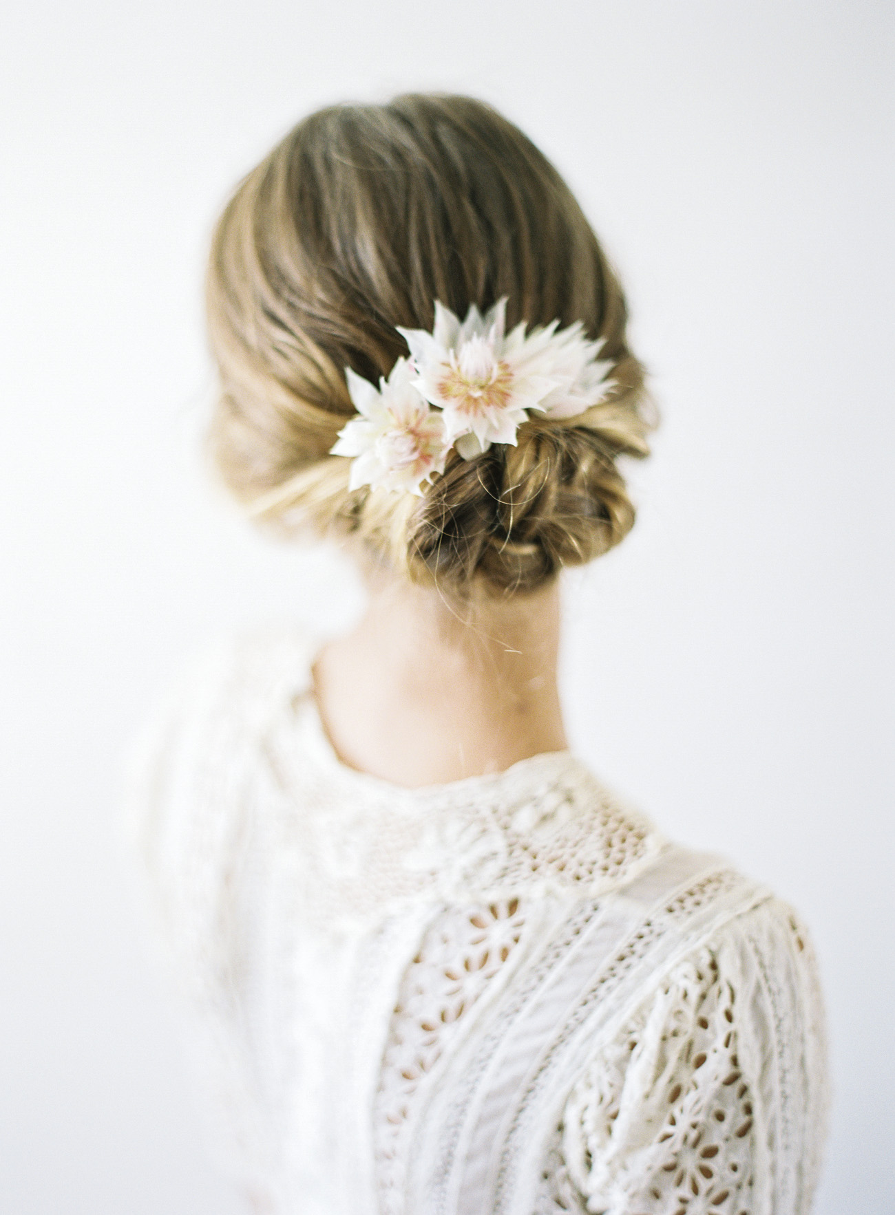 delicate bridal floral hairpiece