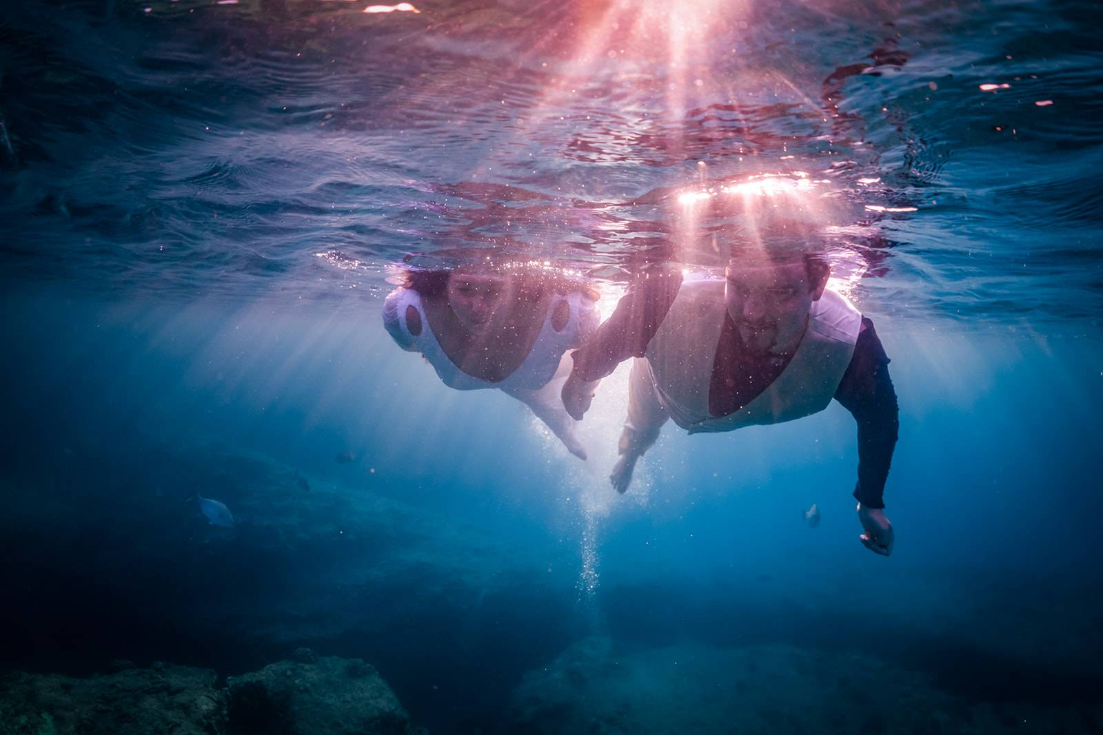 Trash The Dress Underwater Session
