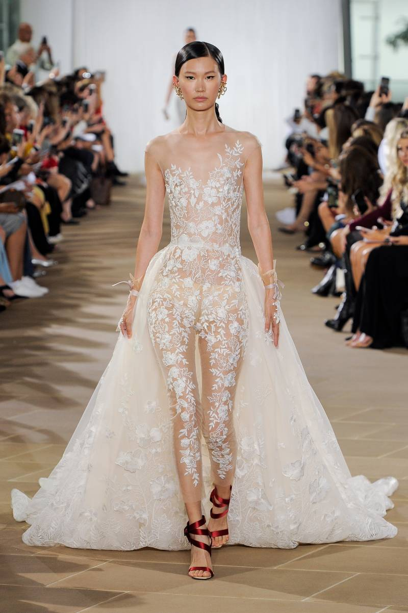 8561caed8bb8 Ines Di Santo at New York Bridal Fashion Week | New York Wedding Gown