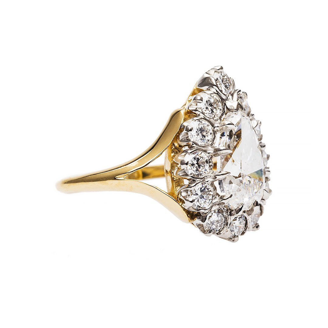 Kip's Bay Vintage Engagement Ring by Trumpet and Horn