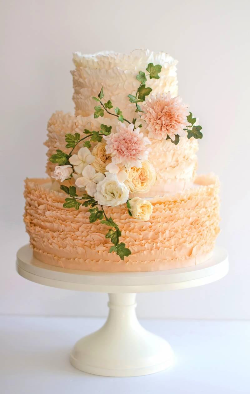 The Frill Of It Maggie Austin Wedding Cakes Washington Wedding - Austin Wedding Cake