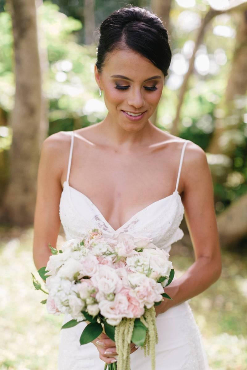 Romantic Blush Haiku Mill Maui Wedding | Maui Destination Wedding