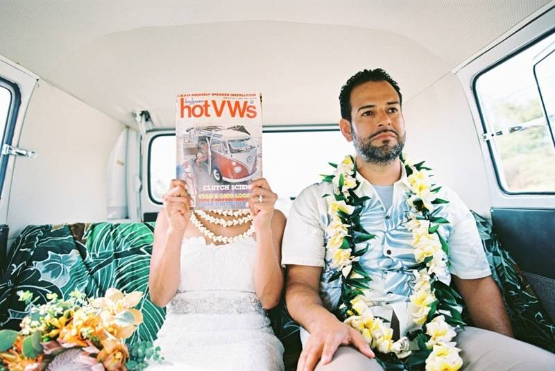 Retro Tropical Maui Destination Wedding