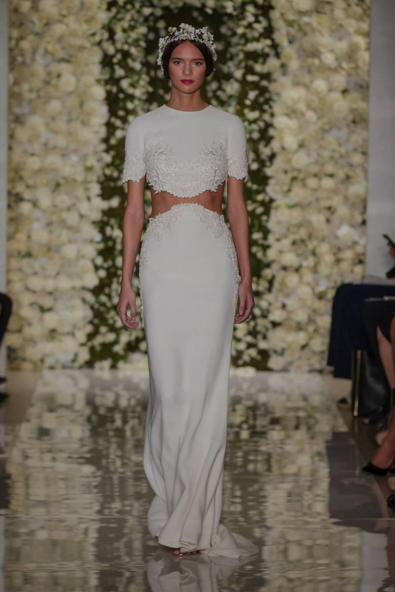 Reem Acra Wedding Gowns from the 2015 Bridal Runways | New York