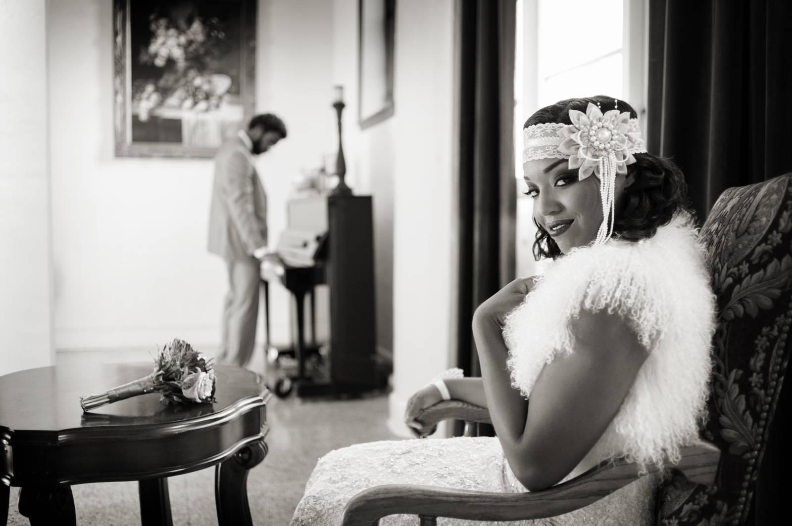 Romantic Harlem Renaissance Styled Shoot | Florida Styled Shoot
