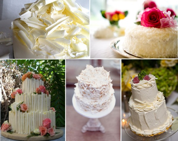 wedding cakes with textured frosting