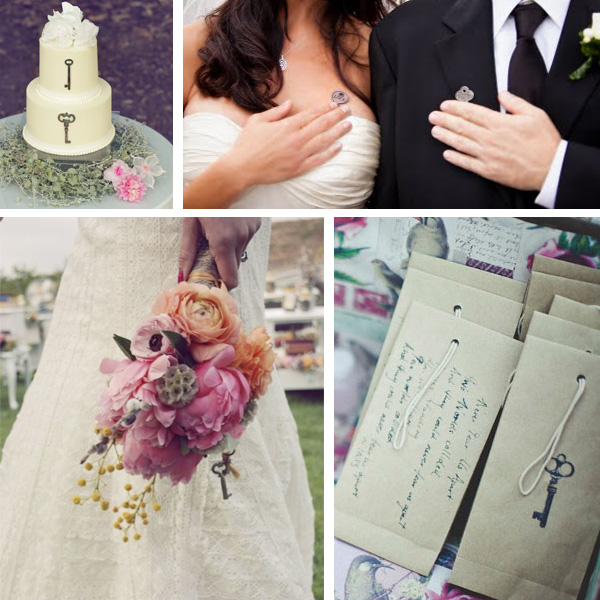 Lake Tahoe Wedding Inspiration | Vintage Keys | Lake Tahoe