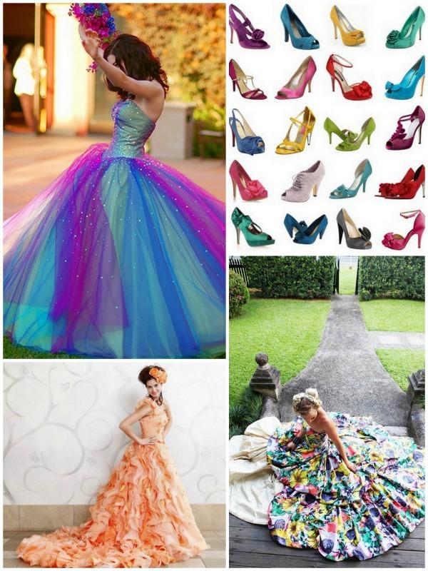 Pop Wedding Dress.Lake Tahoe Wedding Inspiration Colorful Dresses Lake Tahoe