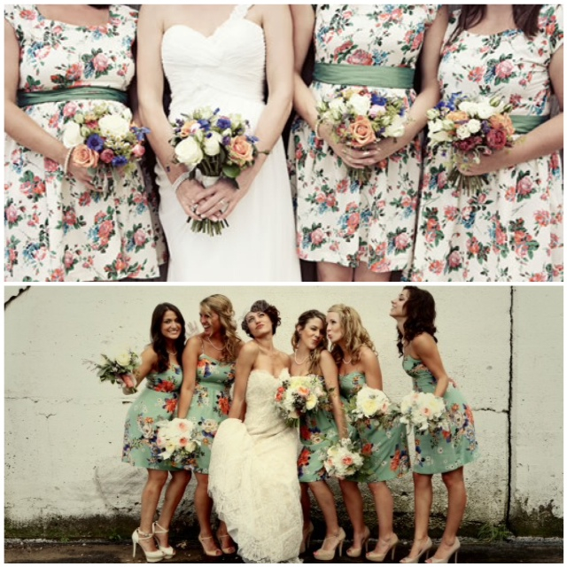 Lake Tahoe Wedding Inspiration Floral Bridesmaid Dresses Lake Tahoe Interesting Floral Pattern Bridesmaid Dresses
